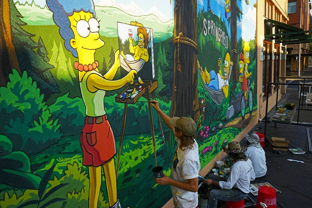 World's First Official Simpsons Mural