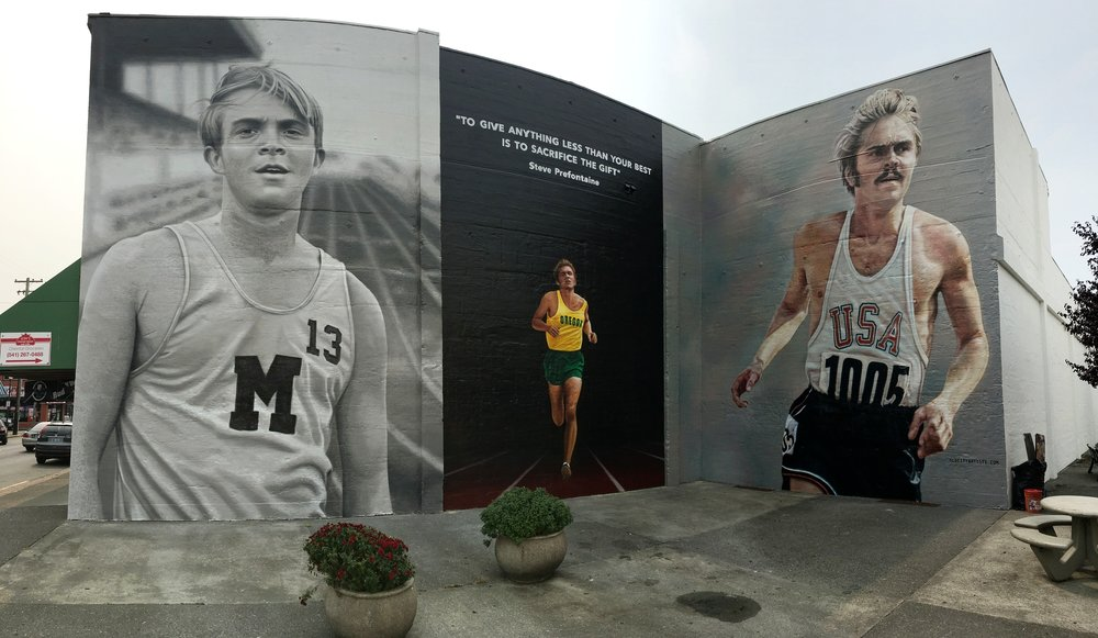 Original Steve Prefontaine Tribute Mural