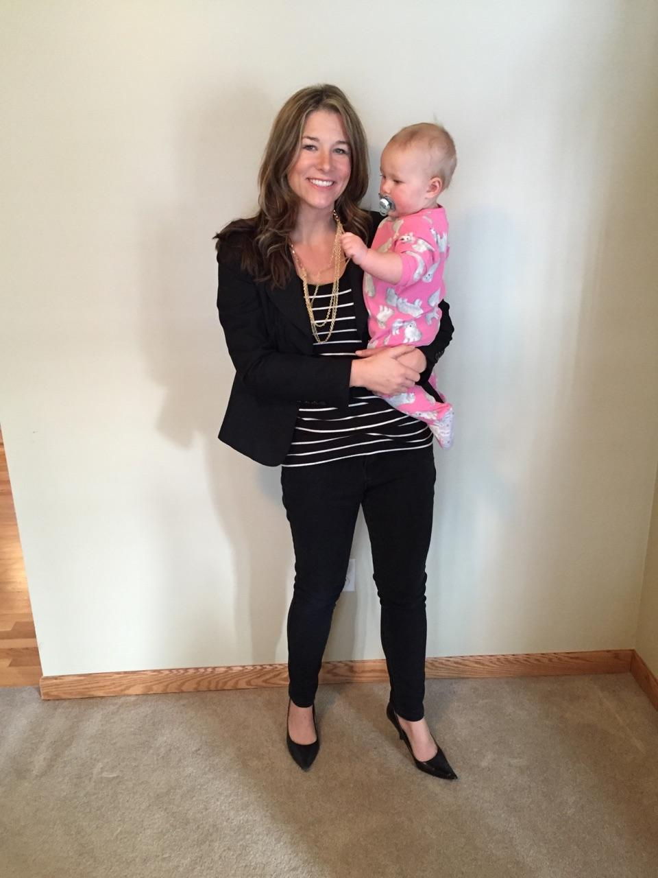 January 2016 Spending time with baby #4 before a night out on the town - 155 lbs and feeling great!