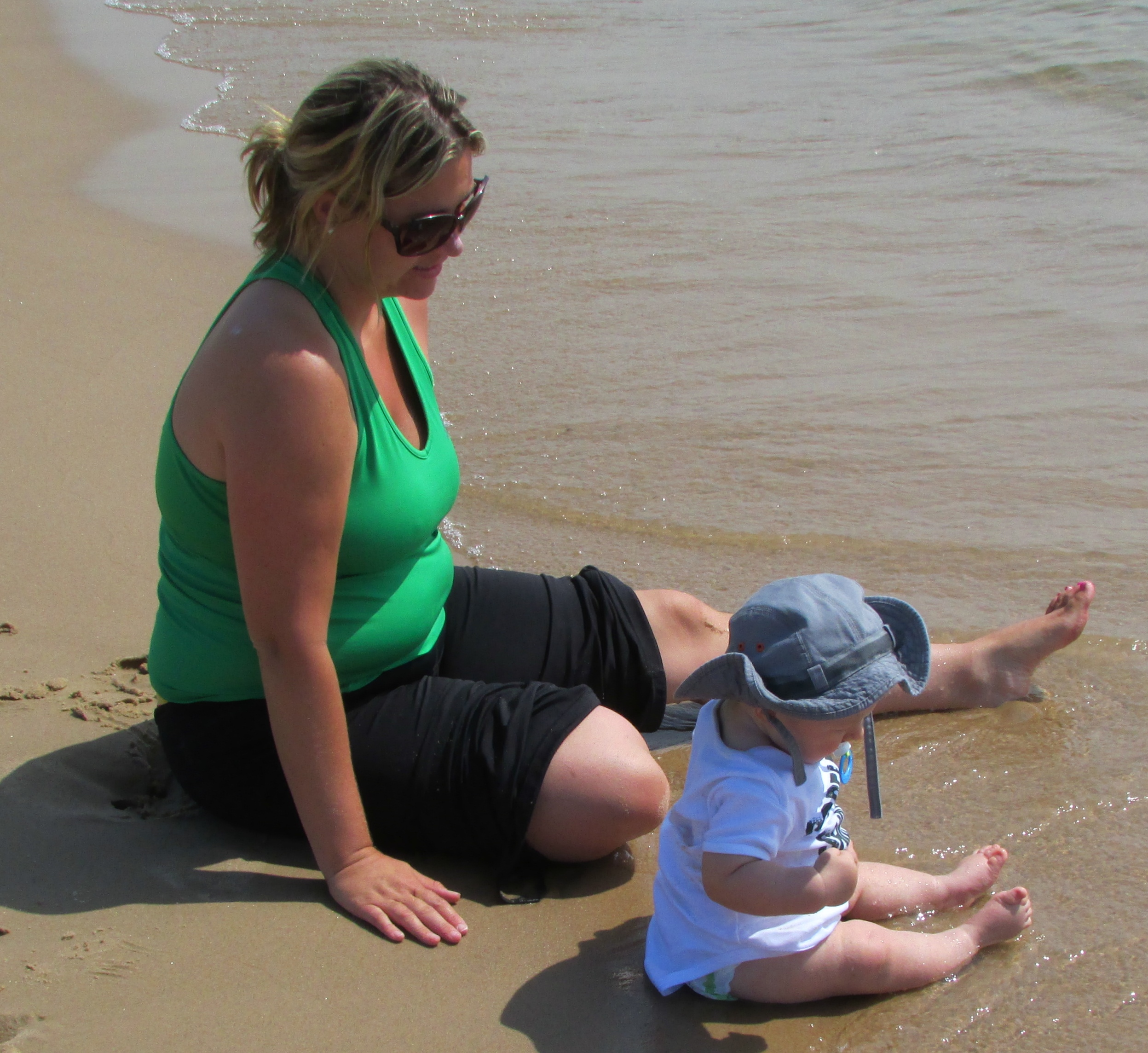 May 2013 Beach Vacation with baby #3 - 196 lbs and holding