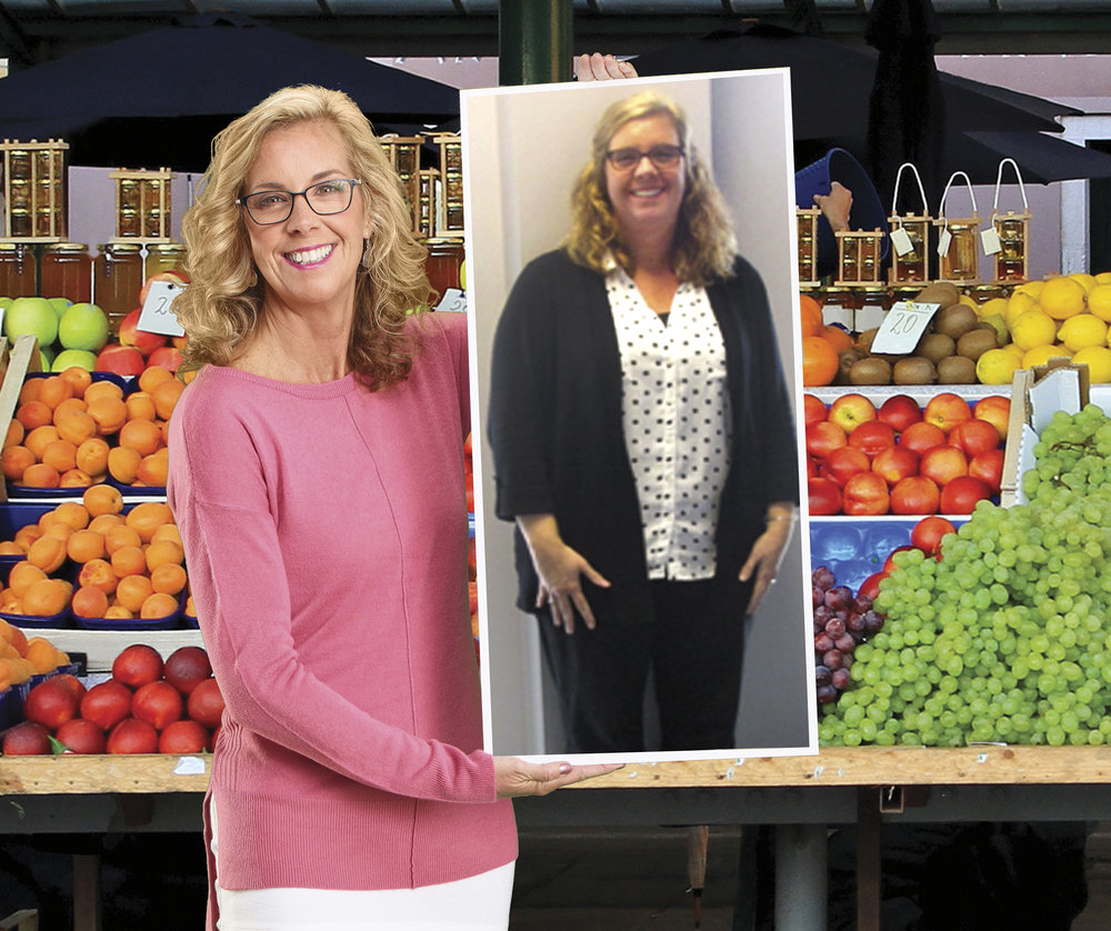 """Kim M. lost 70 lbs. in 25 weeks at MWLC Grandville* - """"Medical Weight Loss Clinic has given me the tools to make better food choices. I have gained self-confidence and enjoy going out."""""""