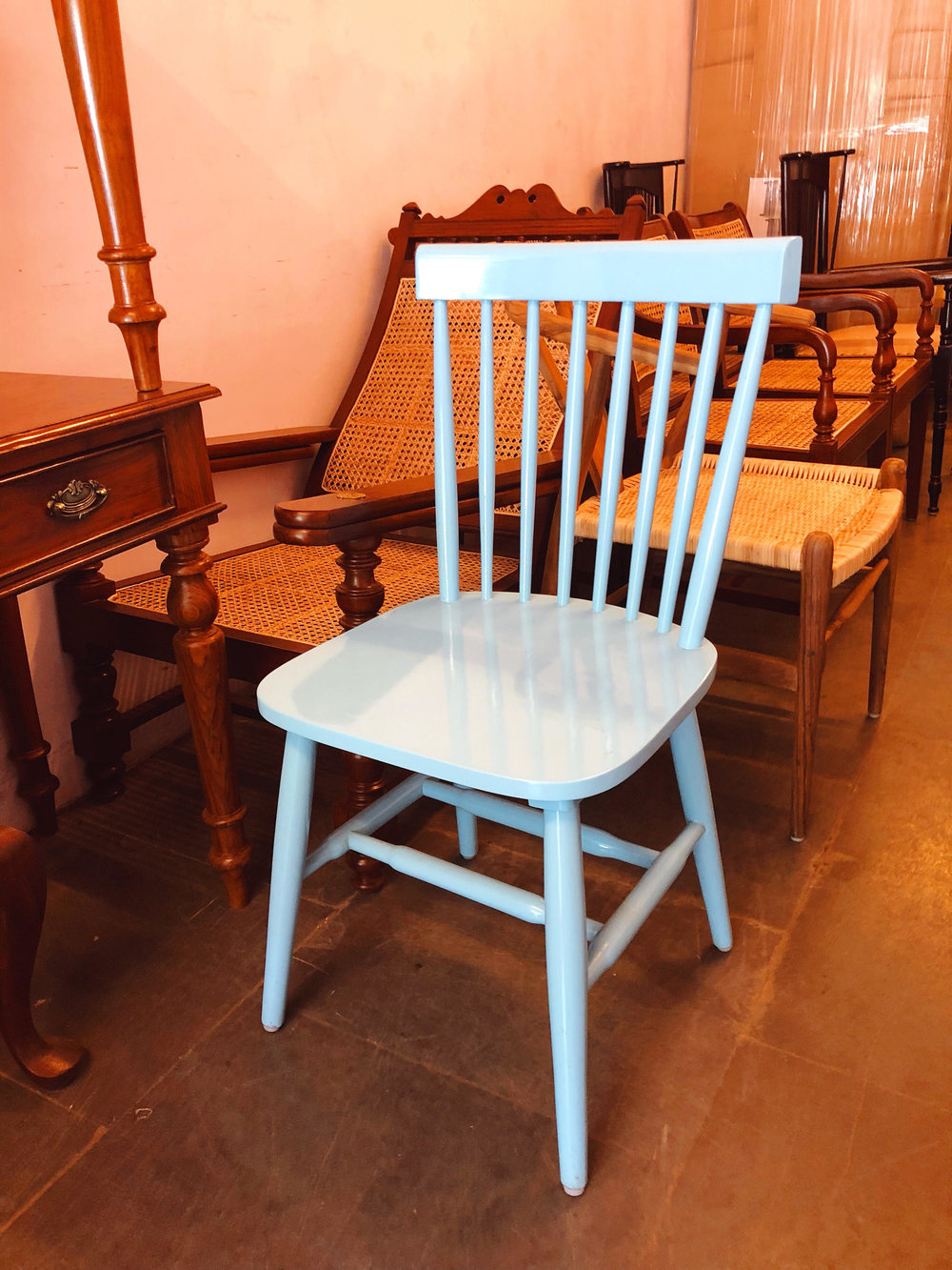 Powder Blue Dining Chair