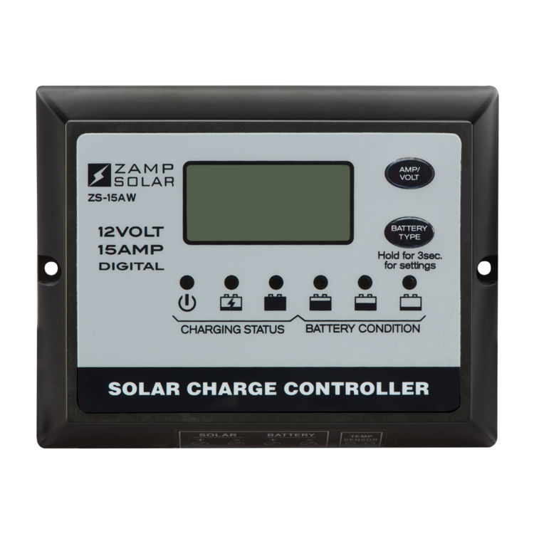 15-Amp 5-Stage PWM Charge Controller - PART NUMBER: ZS-15AW