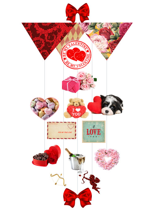 Be My Valentine Theia Chandelier Cards™ opened card