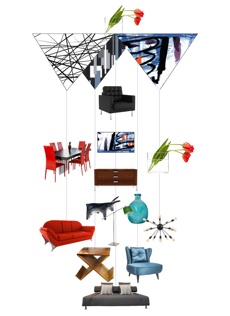 Welcome Stylish Home Theia Chandelier Card™ opened card