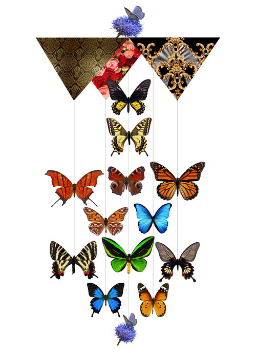 Secret Butterfly Forest Theia Chandelier Cards™ opened card
