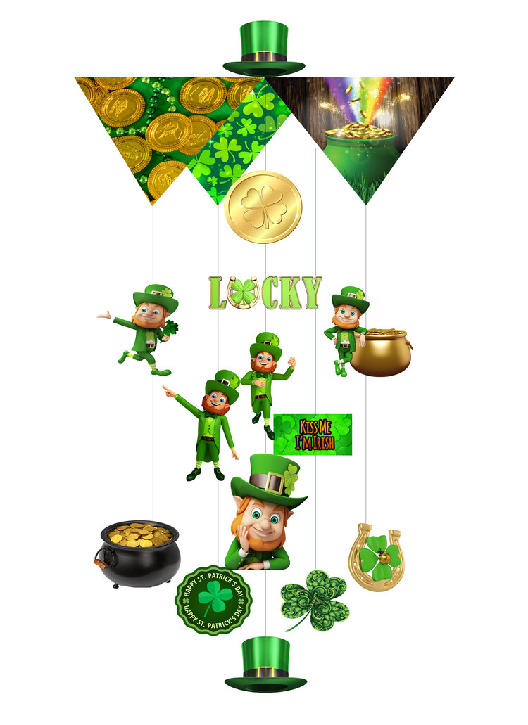 Saint Patrick's Day Theia Chandelier Card™ opened card
