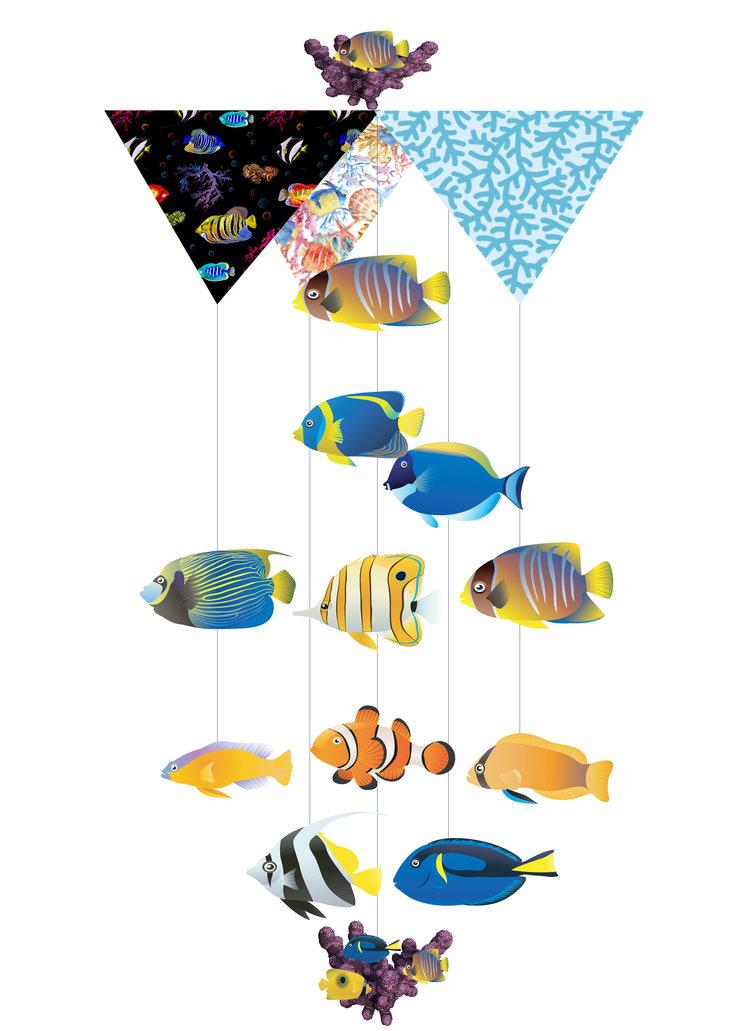 Deep Ocean Theia Chandelier Card™ opened card