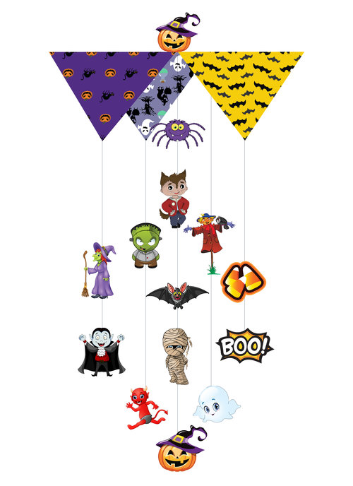 Halloween Youth Theia Chandelier Card™ opened card