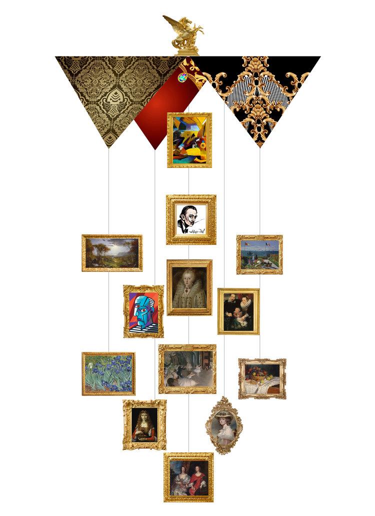 Fine Art Theia Chandelier Card™ opened card