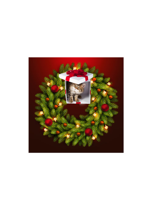 Christmas Cat Mess Theia Chandelier Card™ unopened card