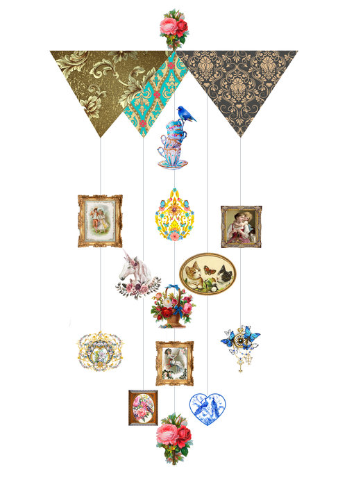 Victorian Theia Chandelier Card™ opened card
