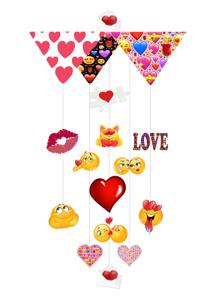 Emoji Love Theia Chandelier Cards™ opened card