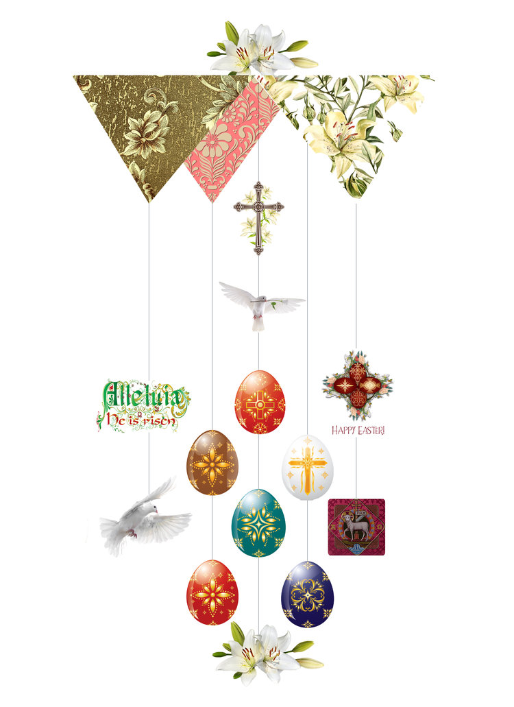 Religious Easter Theia Chandelier Card™ opened