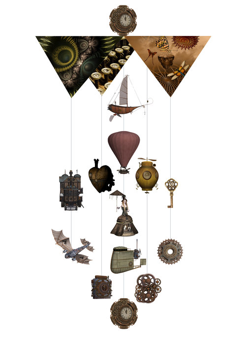 SteamPunk Theia Chandelier Card™ opened card