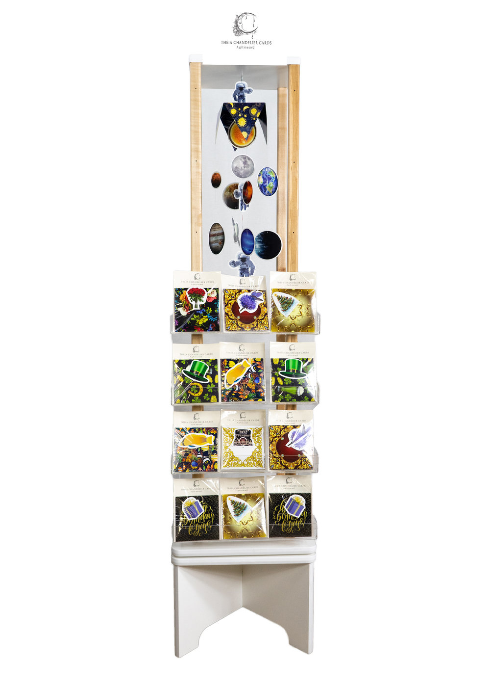 120 Cards Large Rotating Display