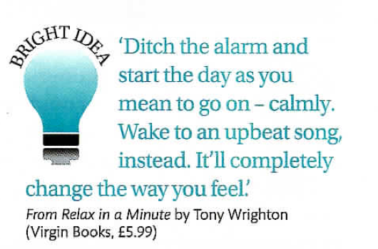 Tony Wrighton's Relax in a Minute in Zest Magazine