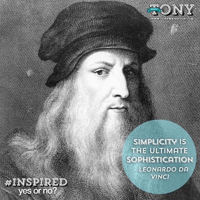 Leonardo Da Vinci on Simplicity