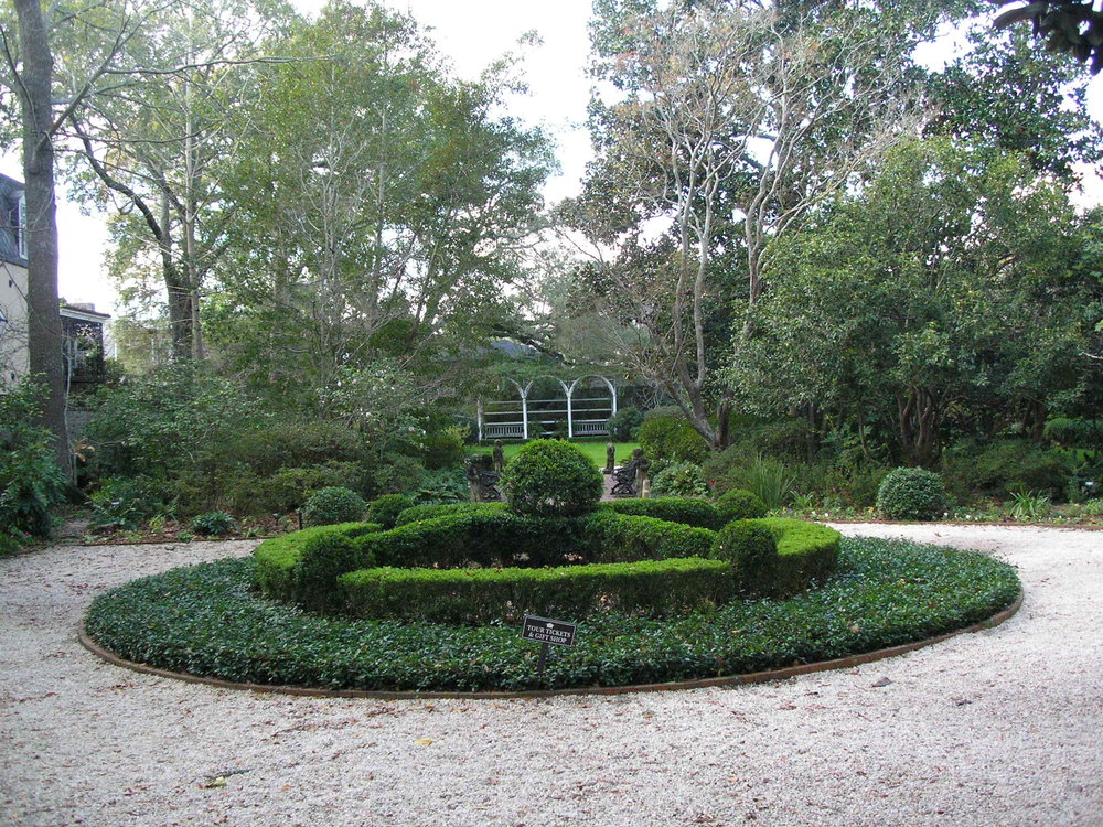 The gardens near the Nathaniel Russell House