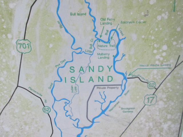 Map of sandy island