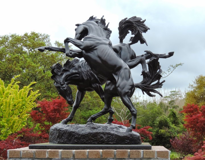 Fillies Playing , Bronze. 1956
