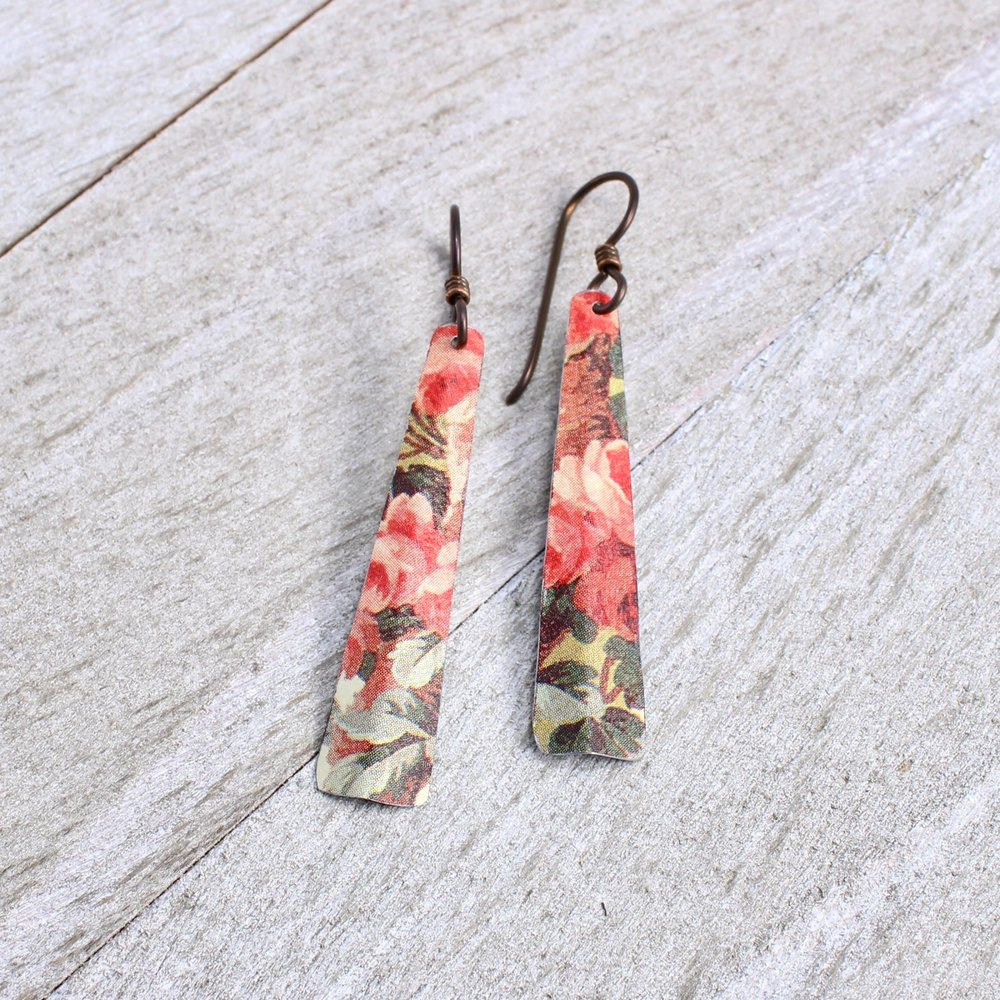 Cut Tin Taper Earrings -