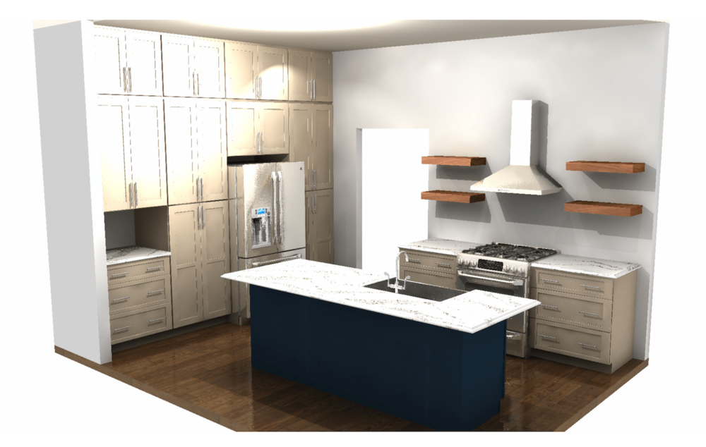 Kitchen Rendering Full View