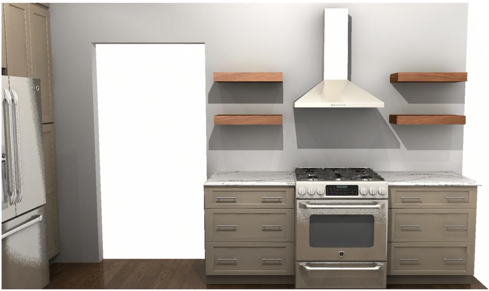 Kitchen Rendering Range View