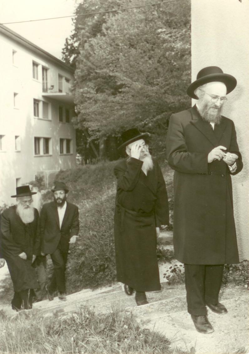 Rav Wasserman, Rav Yankele of Pshevorsk, and Rav Horowitz (Strasbourg Rov) in Aix-les-Bains