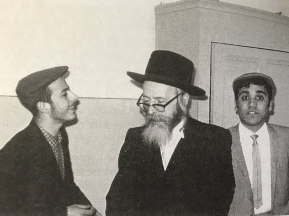 Rav Yankele of Pshevorsk with students of Yeshiva of Aix-les-Bains