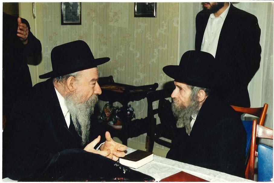 "Rav Shteinman זצ""ל with יבל""ח Aix-les-Bains Rosh Yeshiva Rav Yitzchok Weil שליט""א"