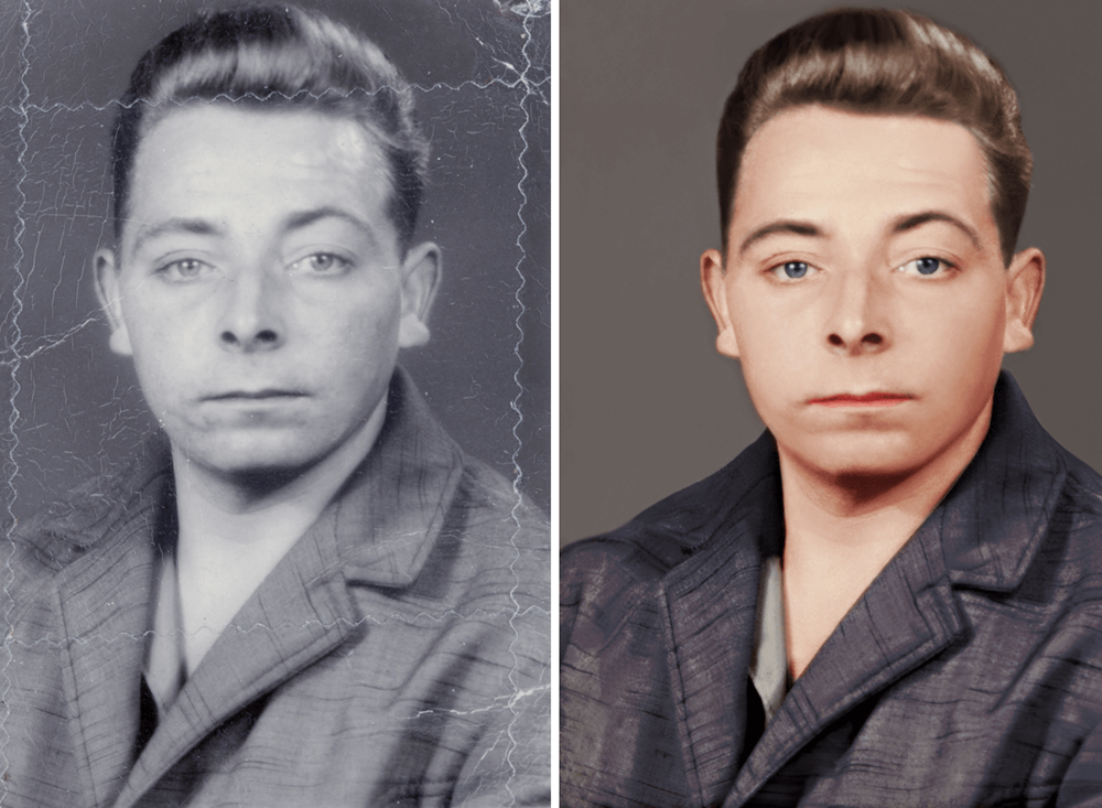 Photo Editing  I offer a wide range of professional photo editing services that can help bring your photos to life. From restoring sentimental old photos to retouching photo shoots, get in touch to see how i can help.  Image manipulation  Photo restoration  Retouching  Object removal  Colour correction  Photo colourising