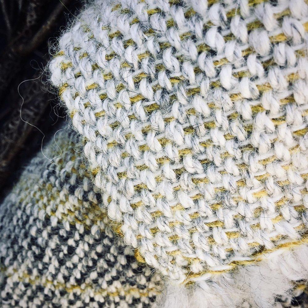Hand woven British alpaca