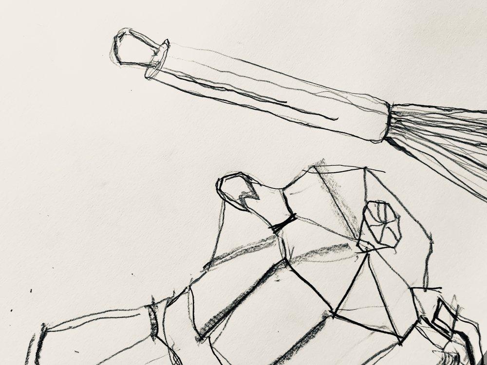 Left handed, graphite