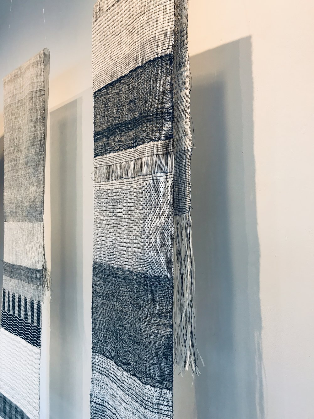 Weavings from paper and silk