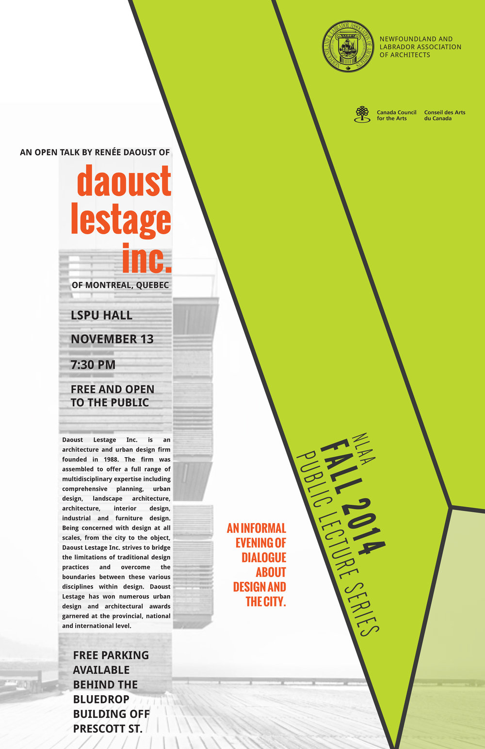 NLAA 2014 Lecture Series - Daoust Lestage Poster.jpg