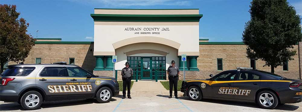 audrain county sheriff vehicles with deputies