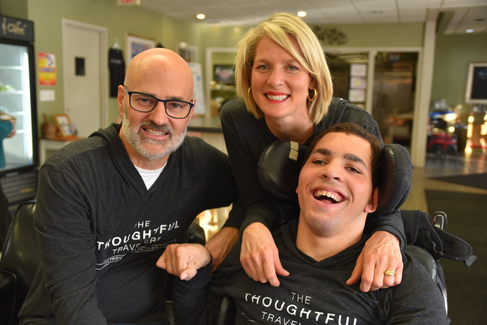 From left to right: Steve Tarca, Susan Johnson and Harold Johnson from The Be Thoughtful Movement