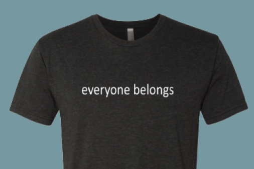 SHOP - Wear & share our 2019 message of inclusionwith the everyone belongs T-shirt.Perfect for giving all year long.Available now at our café in fitted andregular styles in several colors.