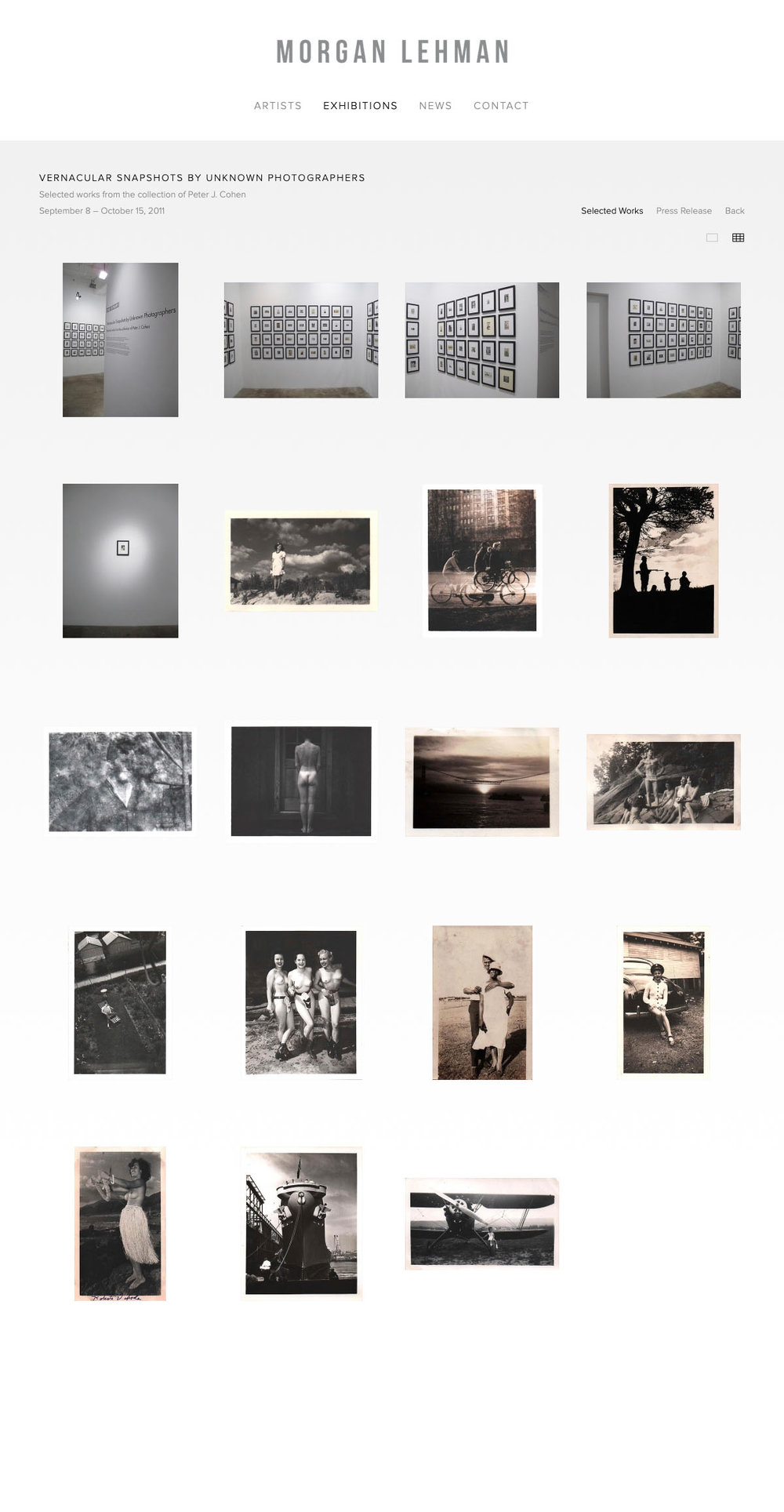 2011-09-08_Morgan Lehmann Gallery, Vernacular Snapshots by Unknown Photographers, 2011.jpg