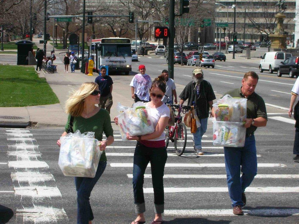 Our Volunteers fan out across downtown.jpg
