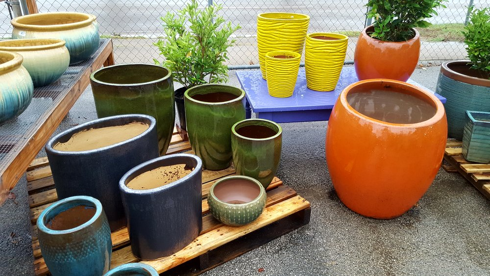 Planters, pots, container gardening, containers for plants.