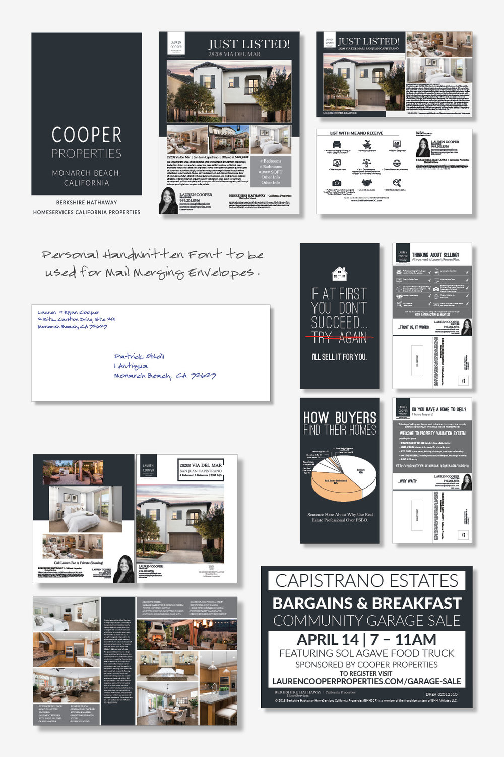 COOPER PROPERTIES   This brand was developed for Lauren and Ryan Cooper, REALTORS® located in Orange County.