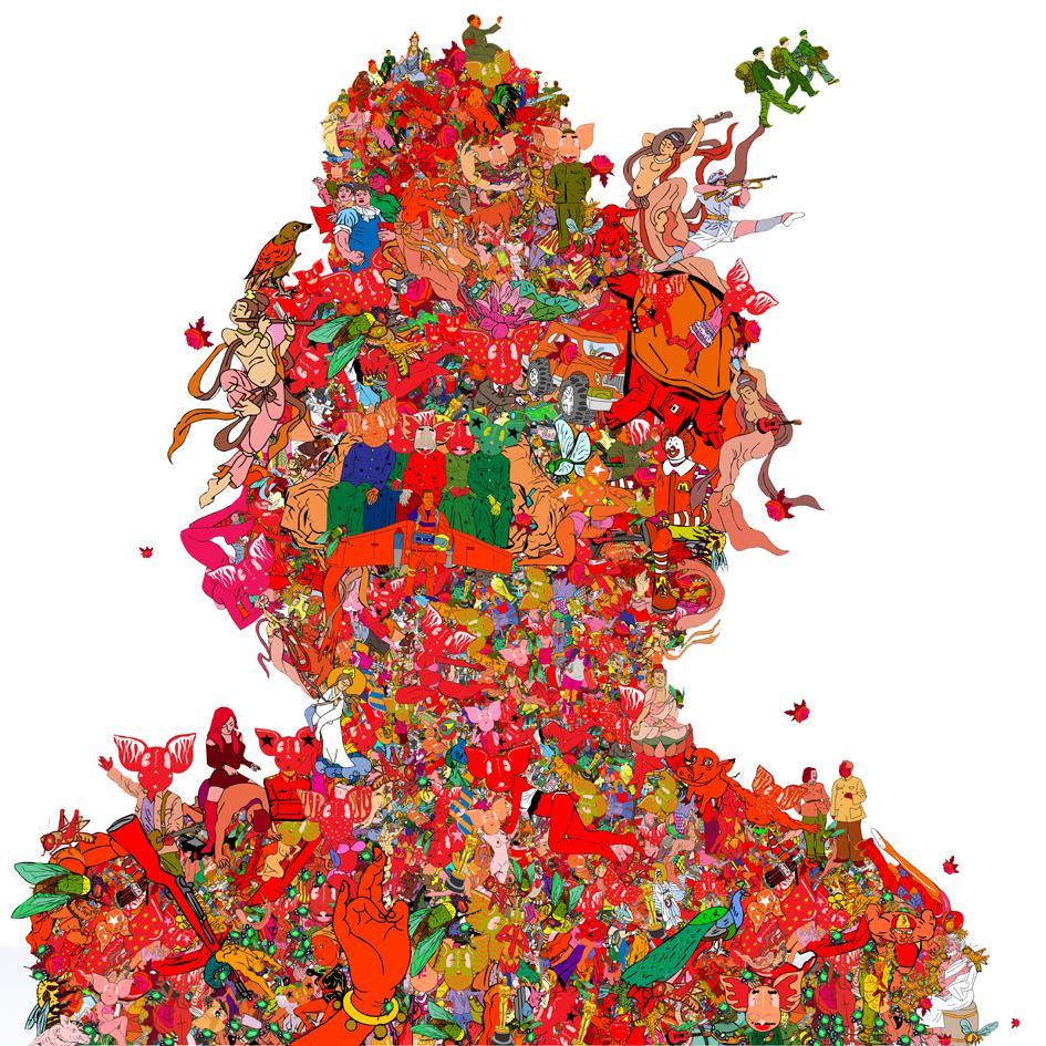 Li Shigong-An innocent portrait-Digital Print-60x60cm-2007-CM2 Space-2.jpg