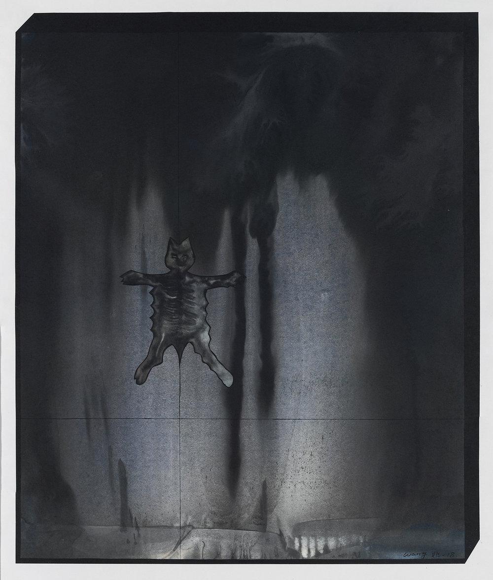 Wang Fei, Exotic-4, 2018, Ink on rice paper, 31x26in.JPG