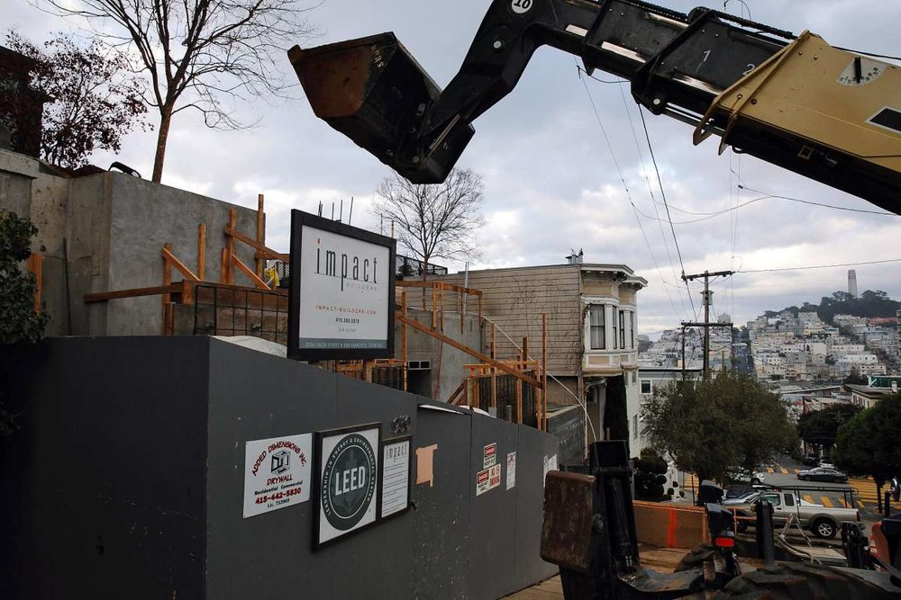 Construction continues at 940 Lombard St. on Jan. 4, 2018 in San Francisco, Calif.Photo: Mason Trinca / Special to The Chronicle