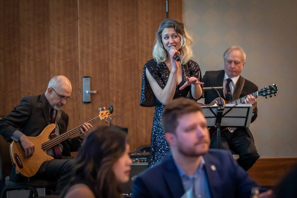 Jazz trio Slinki performs with Andrew Stack