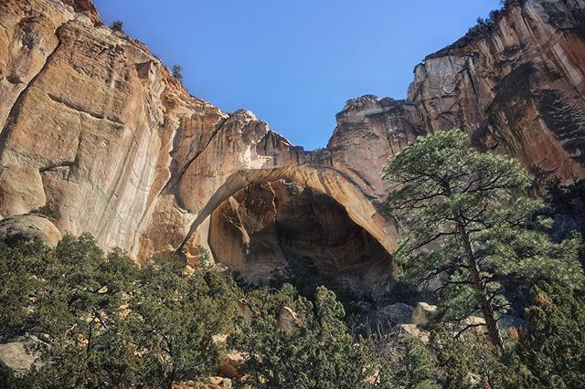 A beautiful day discovering El Malpais National Monument in New Mexico.  La Ventana is an enormous sandstone arch that's stunning to see!
