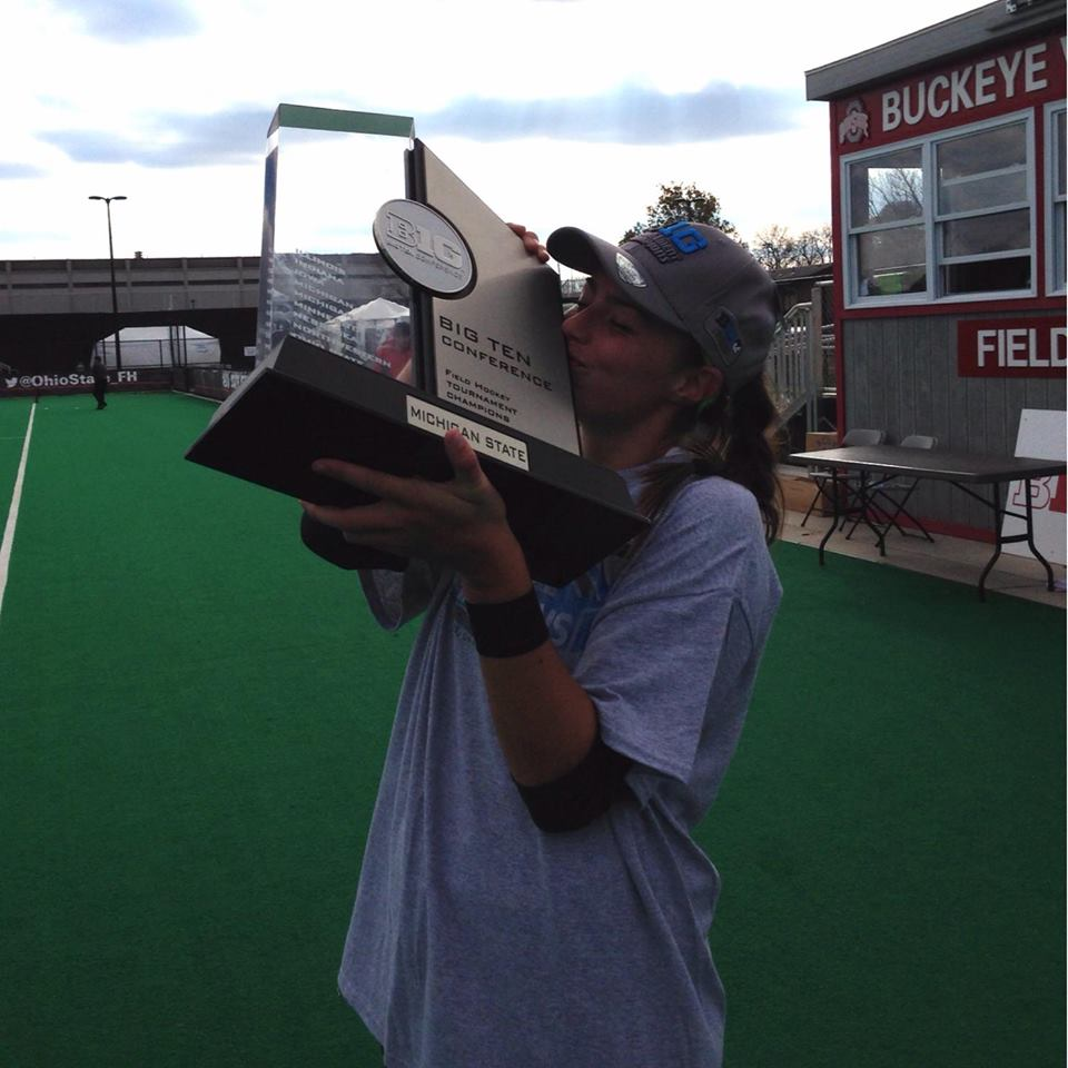 Abby Barker as Big Ten champion