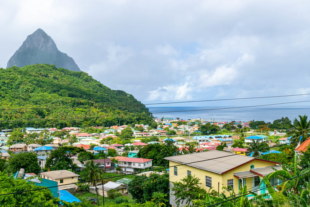 View of the Pitons in Soufriere, St Lucia photographed by Vision Balm in Charleston, SC.